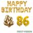 Feest-vieren 86 jaar Verjaardag Versiering Ballon Pakket Goud