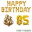 Feest-vieren 85 jaar Verjaardag Versiering Ballon Pakket Goud
