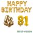 Feest-vieren 81 jaar Verjaardag Versiering Ballon Pakket Goud
