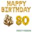 Feest-vieren 80 jaar Verjaardag Versiering Ballon Pakket Goud