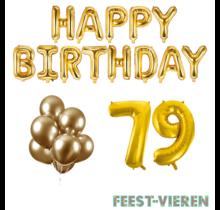 79 jaar Verjaardag Versiering Ballon Pakket Goud