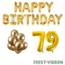 Feest-vieren 79 jaar Verjaardag Versiering Ballon Pakket Goud