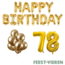 Feest-vieren 78 jaar Verjaardag Versiering Ballon Pakket Goud