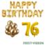 Feest-vieren 76 jaar Verjaardag Versiering Ballon Pakket Goud