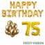 Feest-vieren 75 jaar Verjaardag Versiering Ballon Pakket Goud