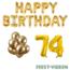 Feest-vieren 74 jaar Verjaardag Versiering Ballon Pakket Goud