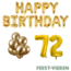 Feest-vieren 72 jaar Verjaardag Versiering Ballon Pakket Goud