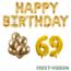 Feest-vieren 69 jaar Verjaardag Versiering Ballon Pakket Goud