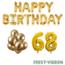 Feest-vieren 68 jaar Verjaardag Versiering Ballon Pakket Goud