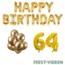 Feest-vieren 64 jaar Verjaardag Versiering Ballon Pakket Goud
