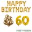 Feest-vieren 60 jaar Verjaardag Versiering Ballon Pakket Goud