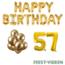 Feest-vieren 57 jaar Verjaardag Versiering Ballon Pakket Goud