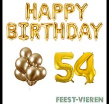 54 jaar Verjaardag Versiering Ballon Pakket Goud