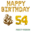 Feest-vieren 54 jaar Verjaardag Versiering Ballon Pakket Goud