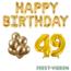 Feest-vieren 49 jaar Verjaardag Versiering Ballon Pakket Goud