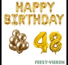 48 jaar Verjaardag Versiering Ballon Pakket Goud