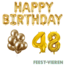 Feest-vieren 48 jaar Verjaardag Versiering Ballon Pakket Goud