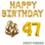 Feest-vieren 47 jaar Verjaardag Versiering Ballon Pakket Goud