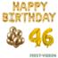 Feest-vieren 46 jaar Verjaardag Versiering Ballon Pakket Goud