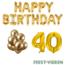 Feest-vieren 40 jaar Verjaardag Versiering Ballon Pakket Goud