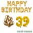 Feest-vieren 39 jaar Verjaardag Versiering Ballon Pakket Goud