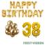Feest-vieren 38 jaar Verjaardag Versiering Ballon Pakket Goud