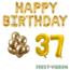Feest-vieren 37 jaar Verjaardag Versiering Ballon Pakket Goud