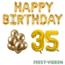Feest-vieren 35 jaar Verjaardag Versiering Ballon Pakket Goud
