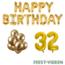 Feest-vieren 32 jaar Verjaardag Versiering Ballon Pakket Goud