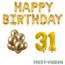 Feest-vieren 31 jaar Verjaardag Versiering Ballon Pakket Goud