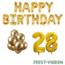 Feest-vieren 28 jaar Verjaardag Versiering Ballon Pakket Goud
