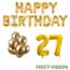 Feest-vieren 27 jaar Verjaardag Versiering Ballon Pakket Goud