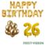 Feest-vieren 26 jaar Verjaardag Versiering Ballon Pakket Goud