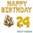 Feest-vieren 24 jaar Verjaardag Versiering Ballon Pakket Goud