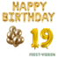 Feest-vieren 19 jaar Verjaardag Versiering Ballon Pakket Goud