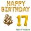 Feest-vieren 17 jaar Verjaardag Versiering Ballon Pakket Goud