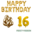 Feest-vieren 16 jaar Verjaardag Versiering Ballon Pakket Goud