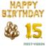 Feest-vieren 15 jaar Verjaardag Versiering Ballon Pakket Goud