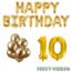Feest-vieren 10 jaar Verjaardag Versiering Ballon Pakket Goud