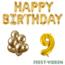 Feest-vieren 9 jaar Verjaardag Versiering Ballon Pakket Goud