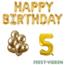 Feest-vieren 5 jaar Verjaardag Versiering Ballon Pakket Goud