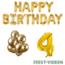 Feest-vieren 4 jaar Verjaardag Versiering Ballon Pakket Goud