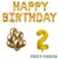 Feest-vieren 2 jaar Verjaardag Versiering Ballon Pakket Goud