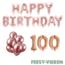 Feest-vieren 100 jaar Verjaardag Versiering Ballon Pakket rosé goud