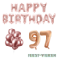 Feest-vieren 97 jaar Verjaardag Versiering Ballon Pakket rosé goud