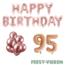 Feest-vieren 95 jaar Verjaardag Versiering Ballon Pakket rosé goud
