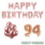 Feest-vieren 94 jaar Verjaardag Versiering Ballon Pakket rosé goud