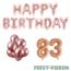 Feest-vieren 83 jaar Verjaardag Versiering Ballon Pakket rosé goud