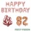 Feest-vieren 82 jaar Verjaardag Versiering Ballon Pakket rosé goud