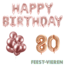 Feest-vieren 80 jaar Verjaardag Versiering Ballon Pakket rosé goud